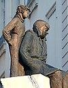 リヨンにあるサンテックスと星の王子さま像