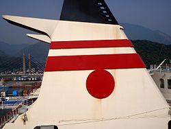 Funnel mark of Hankyu Ferry.jpg