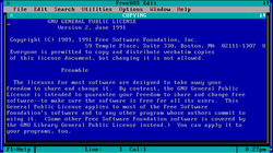 FreeDOS booting screen shot