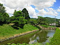 Aki Castle Bank And Moat 1.JPG