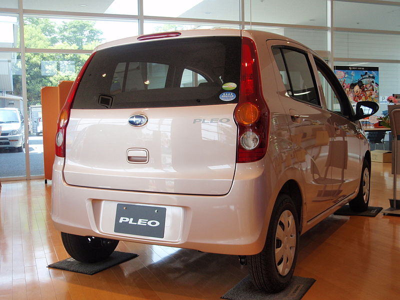 ファイル:Subaru PLEO 2nd rear.JPG