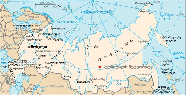 Russia Map Tunguska KA