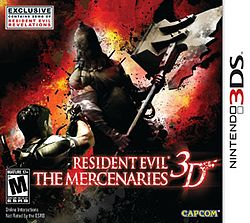 Resident Evil The Mercenaries 3D-ის გარეკანი.jpg