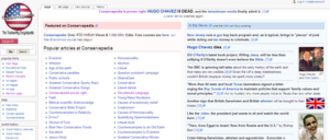 Conservapedia main Page 6 March 2013.png