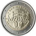 €2 commemorative coin San Marino 2007.jpg