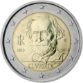€2 commemorative coin Italy 2013.png
