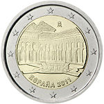 €2 commemorative coin Spain 2011.jpg