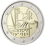€2 commemorative coin Italy 2009.jpg