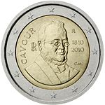 €2 commemorative coin Italy 2010.jpg