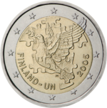 €2 commemorative coin Finland 2005.png