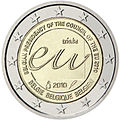 €2 commemorative coin Belgium 2010.jpg