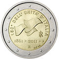 €2 commemorative coin Italy 2011.jpg