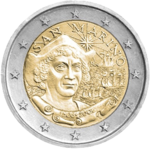 €2 Commemorative Coin San Marino 2006.png