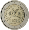 €2 commemorative coin Italy 2015.png