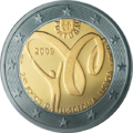 €2 commemorative coin Portugal 2009.png