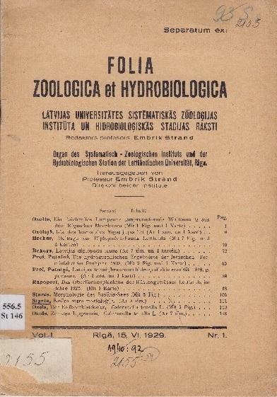 FOLIA ZOOLOGICA DOWNLOAD