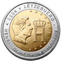 €2 commemorative coin Luxembourg 2004.png