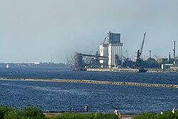 Daugava Rīgā, iepretīm Ķīpsalai