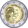€2 commemorative coin Portugal 2010.png