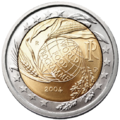 €2 commemorative coin Italy 2004.png