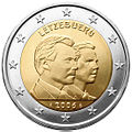 €2 commemorative coin Luxembourg 2006.jpg