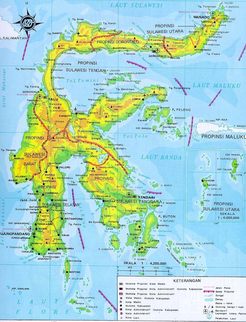 Hasil gambar untuk sulawesi map