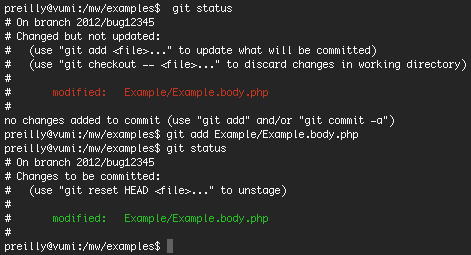 git pull example