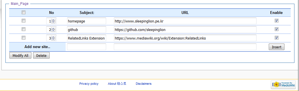 manage related links