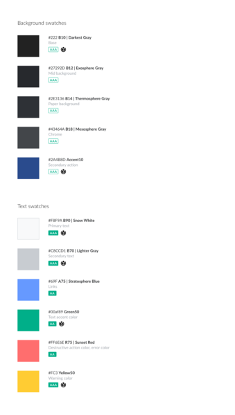 File:Android dark mode color palette.png