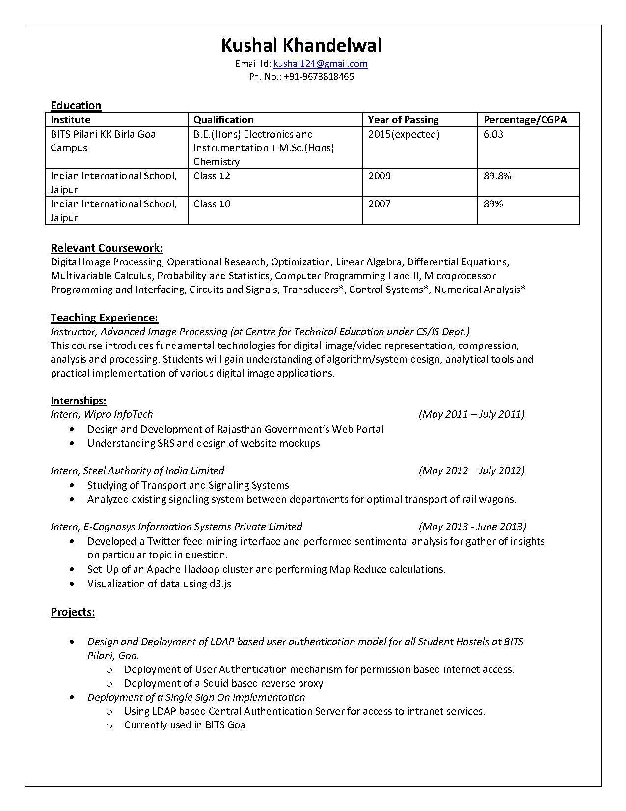 file kushal khandelwal resume pdf mediawiki go to page