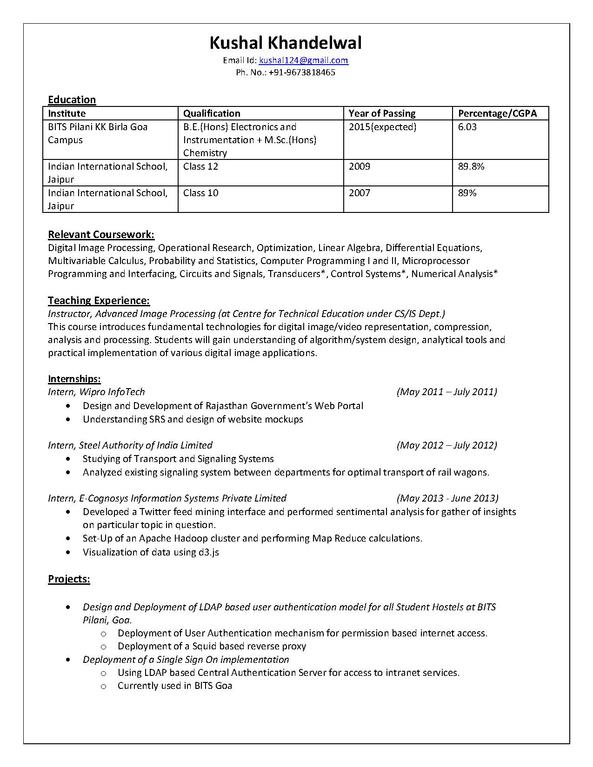 file kushal khandelwal resume pdf