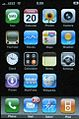 IPhone home screen with Wikipedia bookmark.jpg