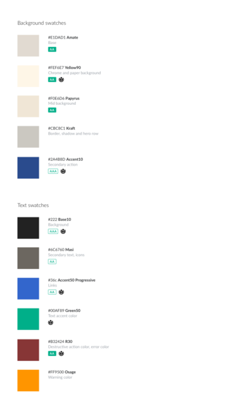File:Android sepia mode color palette.png