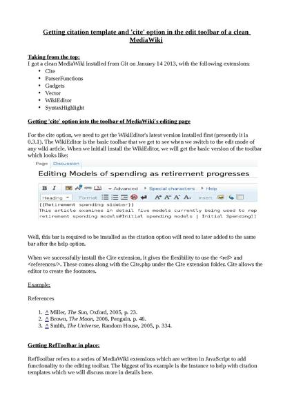 Mediawiki As Pdf Extension