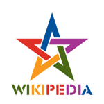 WikipediA Logo Star color.png