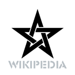 WikipediA Logo Star black.png