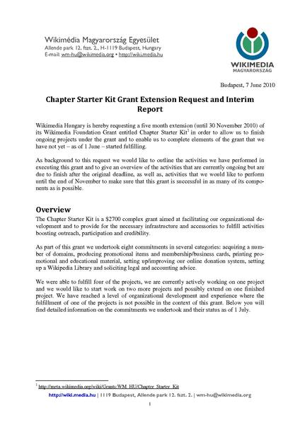 Grant Extension Request Letter