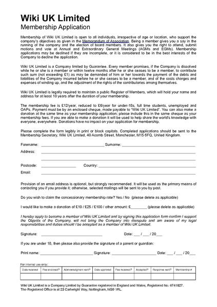 FileWiki Uk Ltd Membership Application FormPdf  Meta