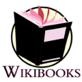 Wikibooks logoproposal.Risk.BlackPink.png