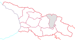 Location of Mtskheta-Mtianeti within Georgia