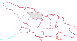 Location of Racha-Lechkhumi and Kvemo Svaneti within Georgia