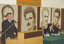 Каракачанов држи говор
