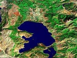Преспанско Езеро, Сателитска снимка