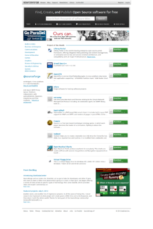 Sourceforge.net Screen Capture .png
