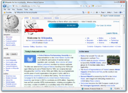Internet Explorer 8 Beta 2 running in Windows Vista