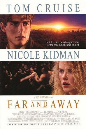 Poster tayangan pawagam filem Far and Away