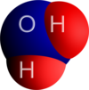 Hydrogen monoxide, or water, has this molecular structure.