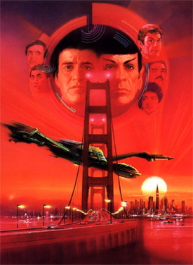Poster tayangan pawagam filem Star Trek IV: The Voyage Home