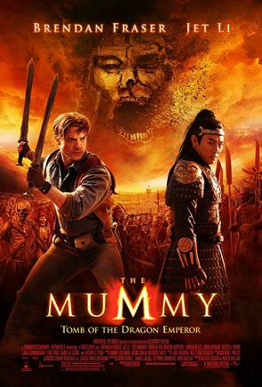 Poster tayangan pawagam filem The Mummy: Tomb of the Dragon Emperor