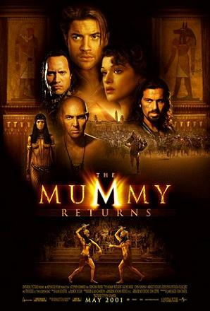 Poster tayangan pawagam filem The Mummy Returns